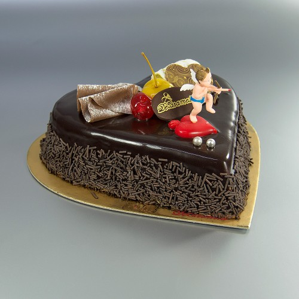 Corazón de Chocolate (Tarta)